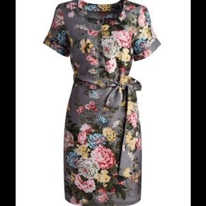 Joules floral belted dress EUC